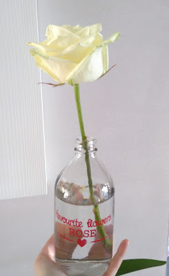rose, vase, soliflore, bullelodie