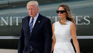 Donald Bersama Melania Trump Kembali Bergandengan Tangan Pasca Isu Pernikahan Retak