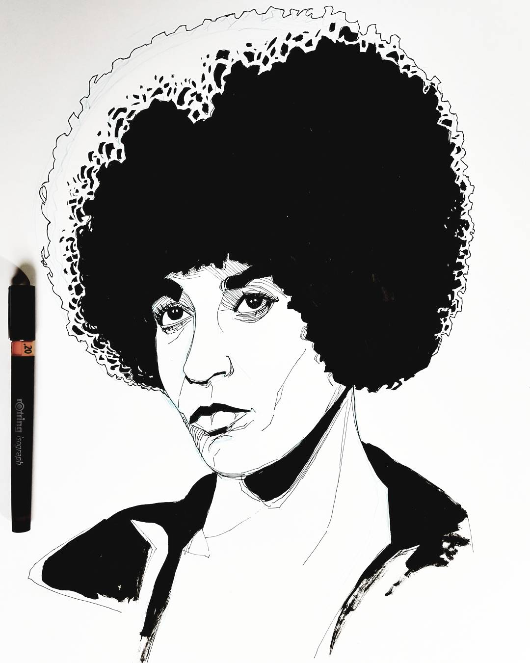 Angela Davis Portrait illustration