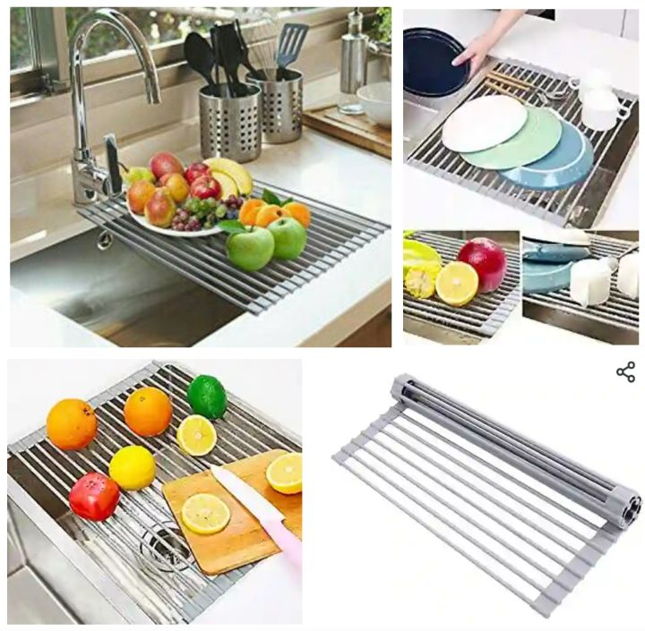 Ohuhu Dish Drying Rack for Kitchen Cutlery, Utensils, Fruits and Food Items