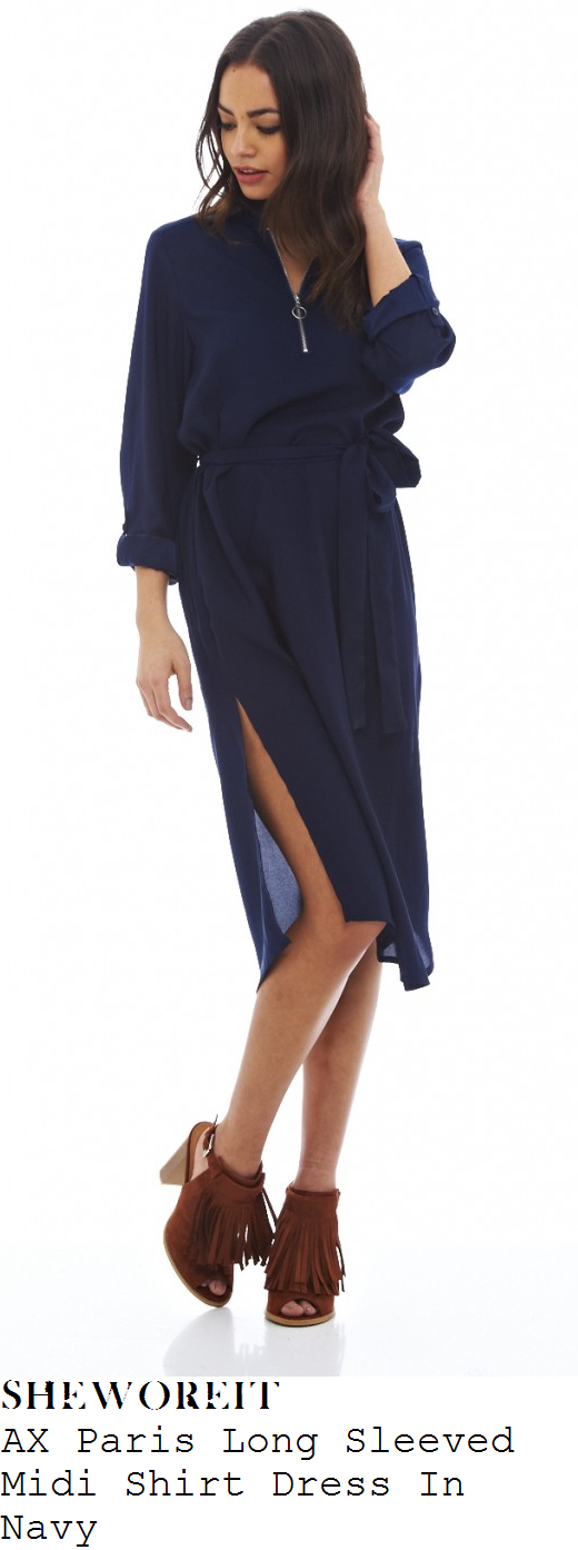 megan-mckenna-navy-blue-long-sleeve-zip-front-detail-shirt-midi-dress
