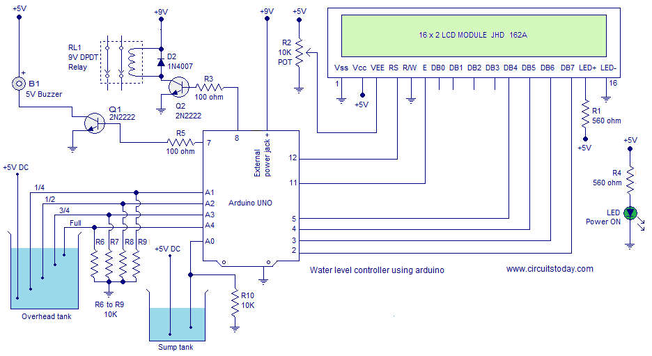 Arduino Project Water Level Controller Using Arduino