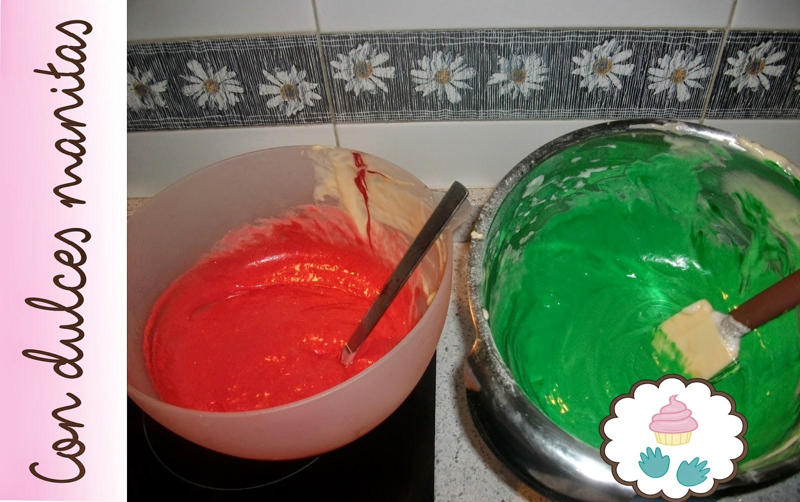 Masa colores Tronco navideño