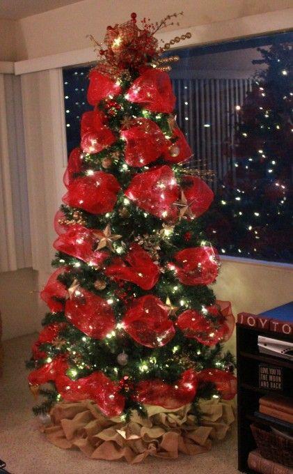 Aprende c mo decorar 7 rboles navide os con mallas - Decoracion arboles navidenos ...