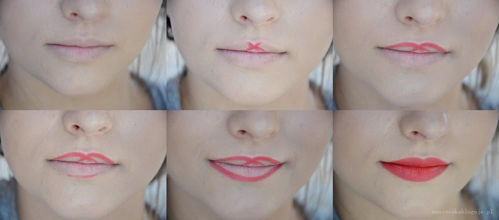 jak obrysować usta konturówką