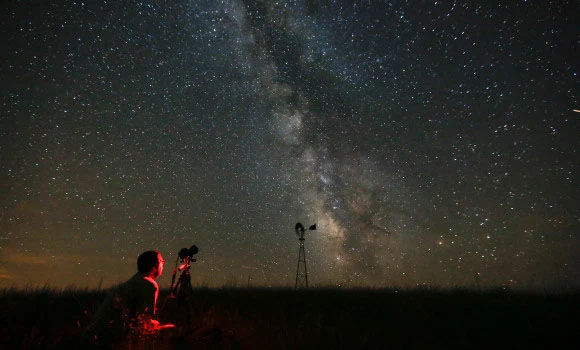 Via Láctea no céu noturno