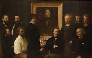 Fantin-Latour Hommage à Delacroix