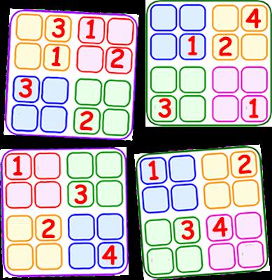 Sudoku 4x4, Sudoku para niños