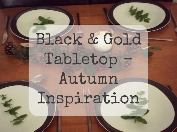 Black & Gold Tabletop - Autumn Trends