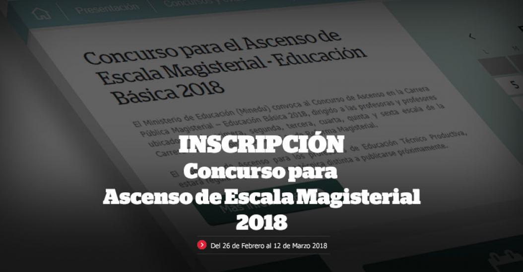MINEDU: Mañana lunes se inicia inscripción de docentes para Concurso de Ascenso Magisterial - www.minedu.gob.pe