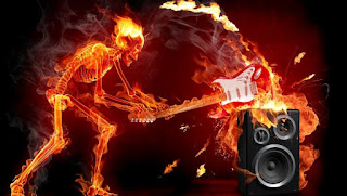 DP Gambar Api Tengkorak Gitar Wallpaper HD Animasi