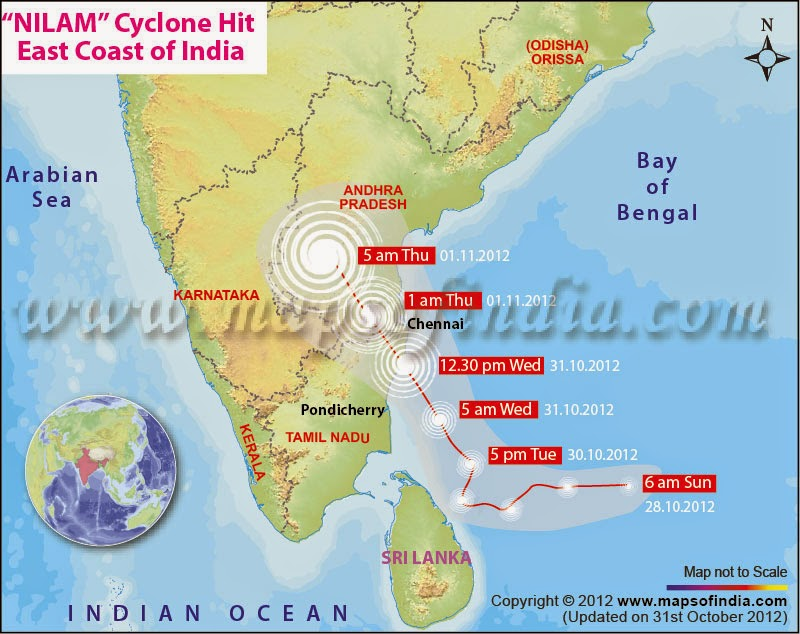 Latest Satellite Images Of Cyclone NILAM Show It has Entered Tamil