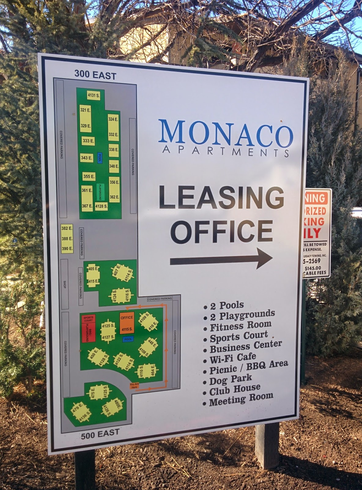 Steves Signs Blog Monaco Apartments Map And Apartment Sign