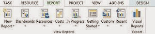 create a ms project report