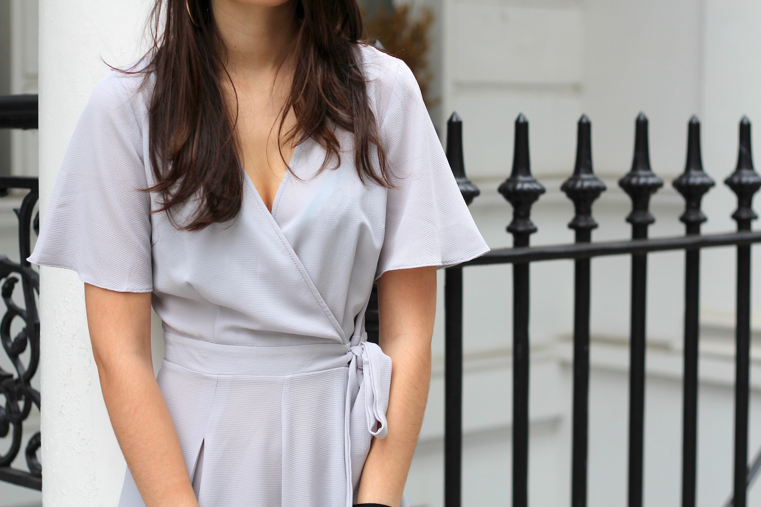 wrap around playsuit new look