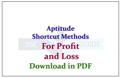 Aptitude Formulas Pdf