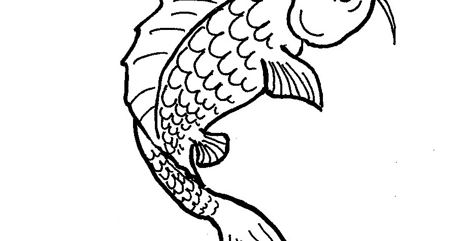Coloring Pages for Kids by Mr. Adron: Printable Koi Fish