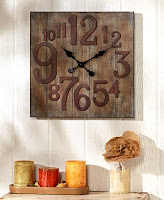 The Lakeside Collection Rustic Wall Clock