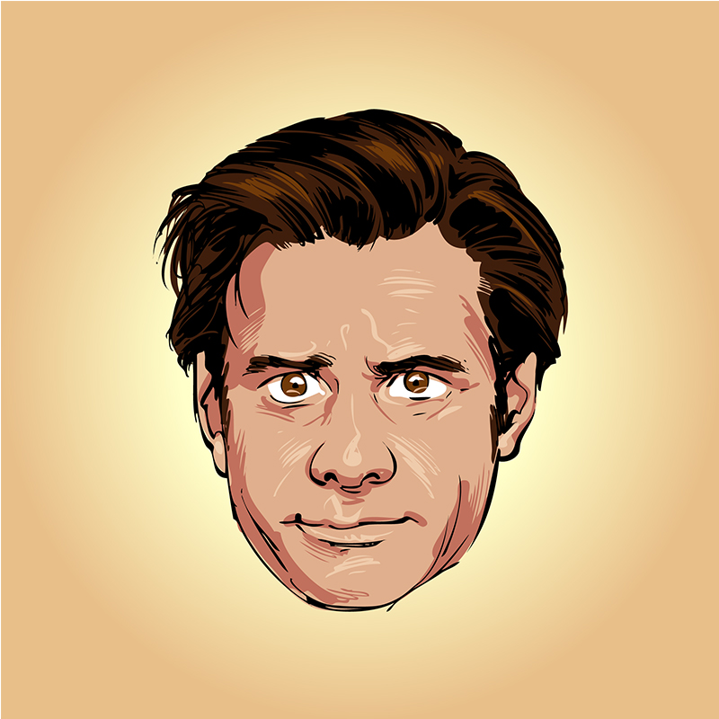 Jim Carrey vector caricature portrait