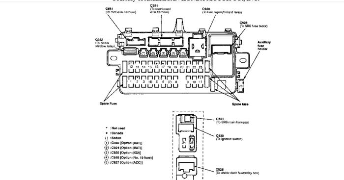1996 acura integra ls 18 fuse box diagram
