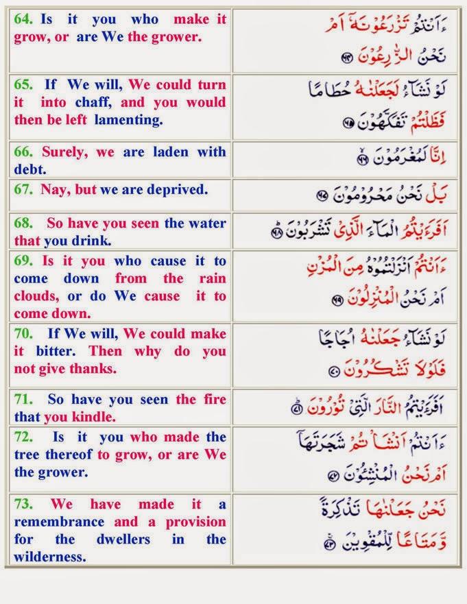 Surat Al Waqiah Ayat 1 96