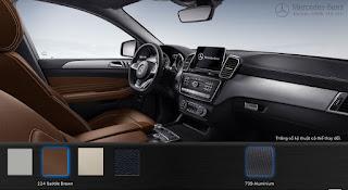 Nội thất Mercedes AMG GLE 43 4MATIC 2017 màu Nâu Saddle 224