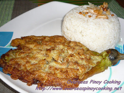 Tortang Talong with Giniling