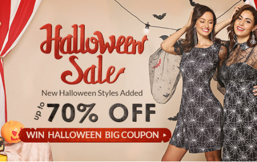 Rosegal promotion Halloween Sale