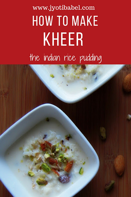 Kheer is an Indian rice milk-based pudding.It is flavoured with cardamom and saffron and is garnished with nuts. Find my kheer recipe here.