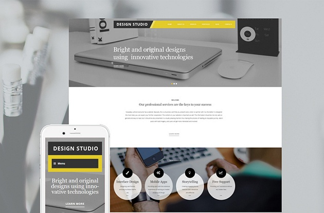 Neat and Stylish Design Studio WordPress Theme