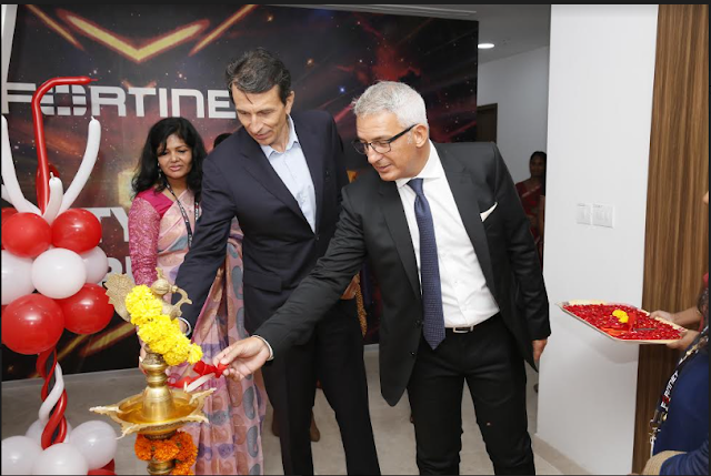 Mr. Patrice Perche, senior executive vice president, Worldwide Sales and Support at Fortine inaugurates the Innovation centre by lighting of the lamp