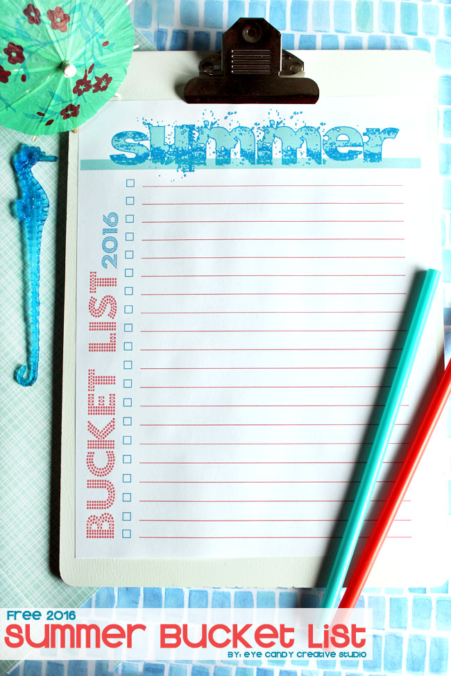 summer bucket list, free download, free bucket list, summertime fun