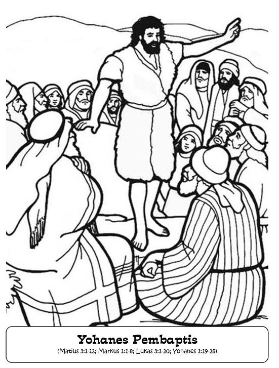 Mewarnai Gambar Yohanes Pembaptis Wartisen Amatcardco