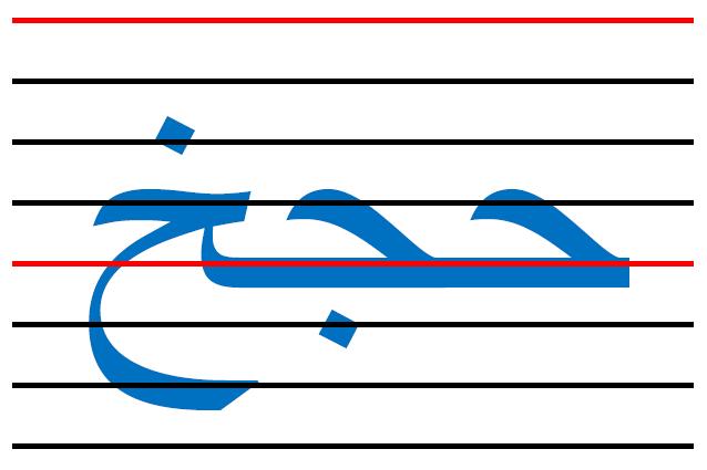 x6 - المقاييس الصحيحة  في الكتابة لكل الحروف العربية