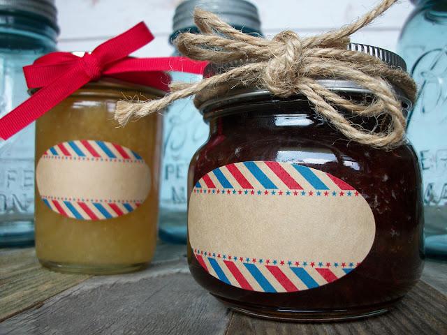 Kraft Stars & Stripes Oval Mason Jar Labels