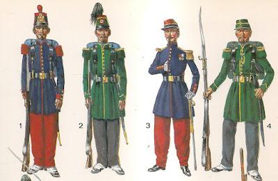 Resultado de imagen de uniformes militares rusos del siglo xix