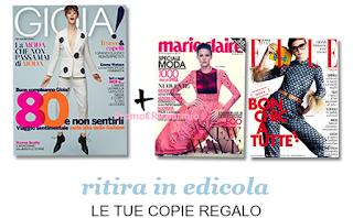 Logo Copie omaggio di GIOIA + Marie Claire + ELLE: tutte insieme e gratis