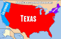 outsize texas with new york and california only