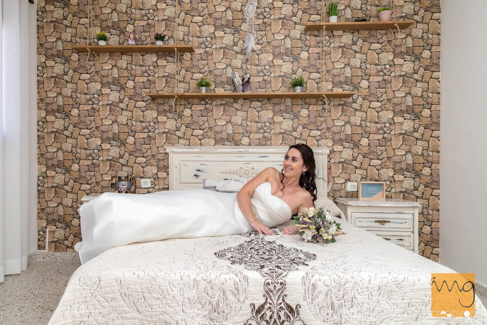 Reportaje de boda en casa de la novia