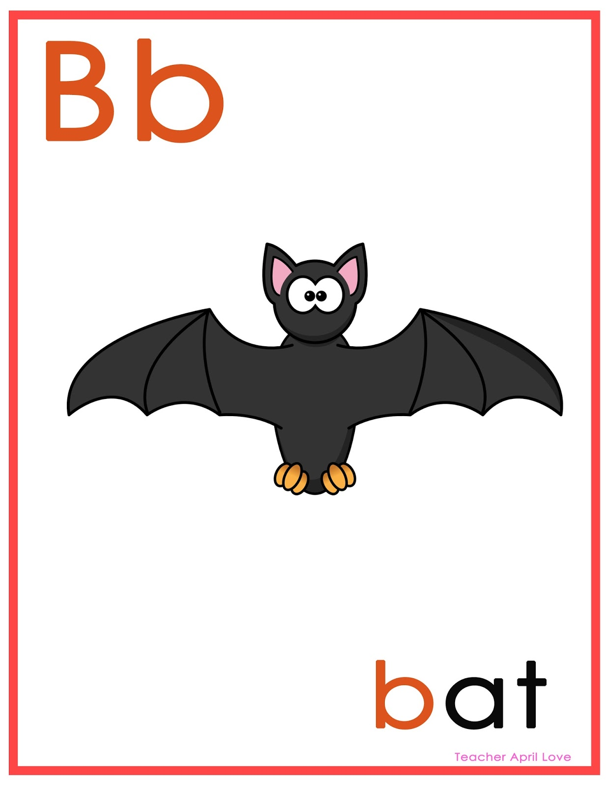 Free Worksheets Letter Bb Flash Cards