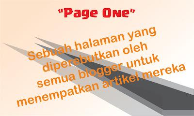 Cara agar artikel berada di page one di google