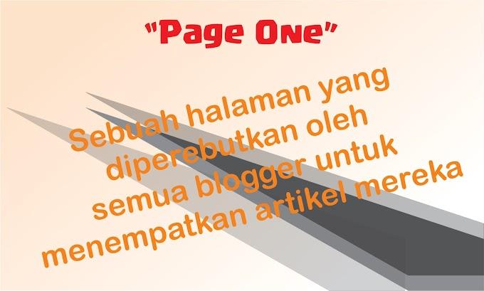 Cara agar artikel blog berada di page one