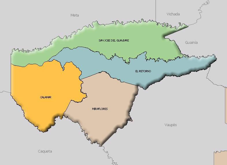 Mapa de Guaviare
