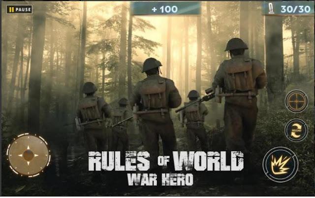 Game Fps Offline Ringan Rules Of World War Hero Mod Apk