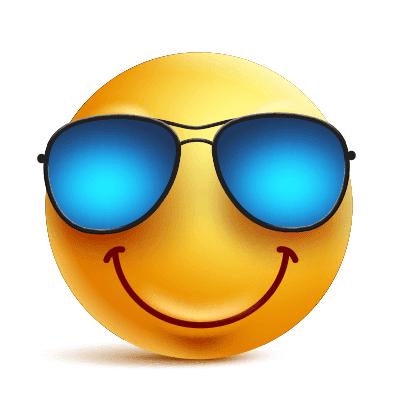 Blue Shades Emoji