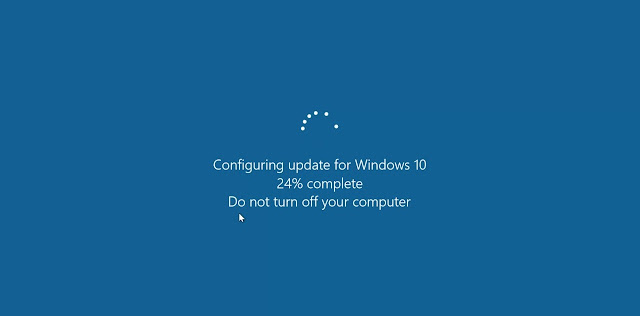 catatan ikrom tampilan konfigurasi update pada windows 10 saat restart atau shutdown