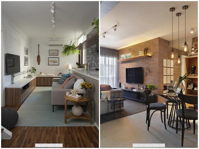 sofá sala pequena