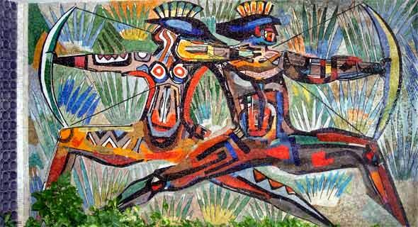 Índios Guerreiros - Carybé ~ Um pintor fascinado pela cultura da Bahia
