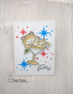 Newton Celebrates a card by Diane Morales | Newton Celebrates Stamp Set by Newton Nook Designs