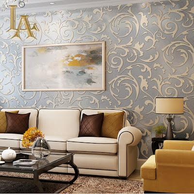 Motif Wallpaper Keren Untuk Desain Ruang Tamu